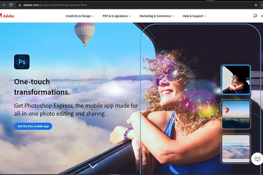 приложение для обработки фото adobe photoshop express