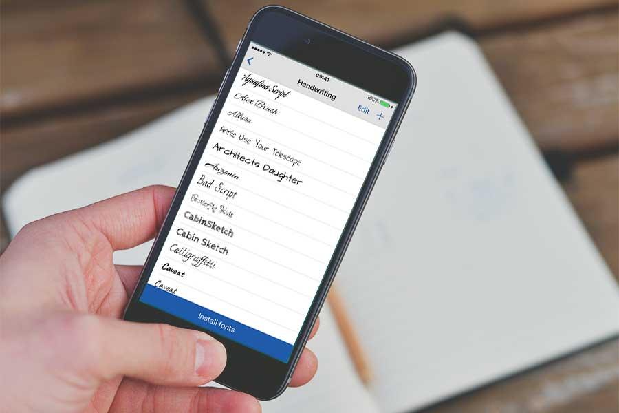 установить шрифт на айфон